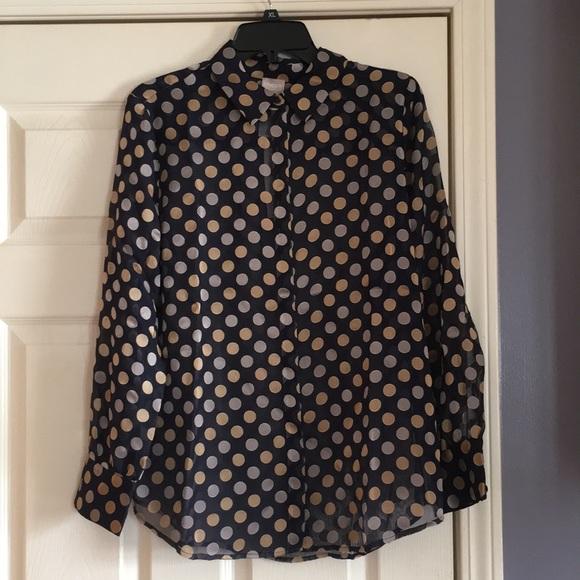5ec8ca8ca9a4d9 Chico s Luxe Dot Shirt BNWT